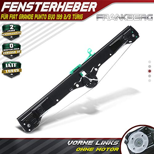 Frankberg Fensterheber Vorne Links Ohne Motor für Grande Punto Evo 199 2/3-Türer 2005-2018 51723318