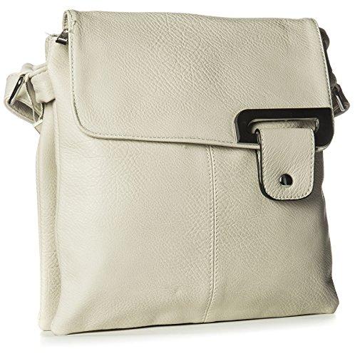 Big Handbag Shop - Borsa a tracolla donna (Beige chiaro)