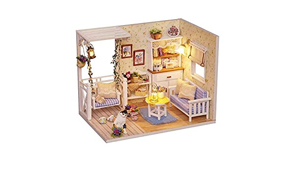 Ins 3d Doll House Frame Miniature With Furniture Model Building Kits Diy Wooden Dollhouse Miniaturas Toys Birthday Gift A Great Variety Of Goods Toys & Hobbies