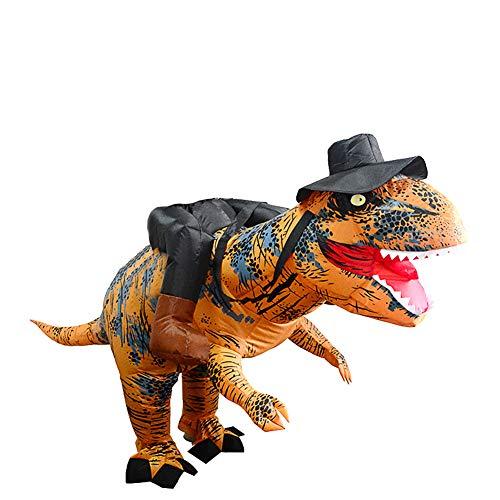 XiYuanShangMao Spielzeug-Geschenk für Halloween Weihnachten Stehen Reiten T-Rex Dinosaurier Aufblasbare Kostüme Partykleid Anzug mit Hut Anzug Kostüm Erwachsene Lustige Cosplay… ()