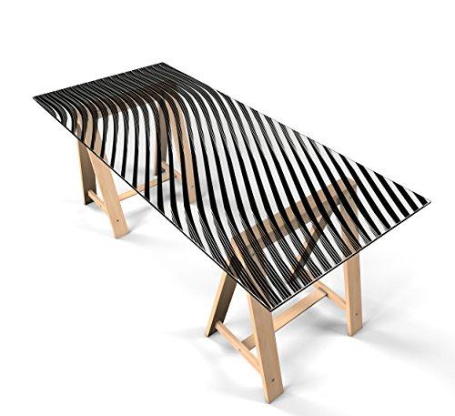 """Glastischfolie Dekofolie Klebefolie für Glastisch Schutzfolie """"Design Linien"""" selbstklebend Tischfolie Dekorfolie Tischschutz 220cm x 110cm"""