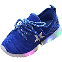 Kinder Sneaker, FEITONG Kleinkind Turnschuhe Stern Leuchtend Casual Bunte Lichter Schuhe Beiläufig Schuhe
