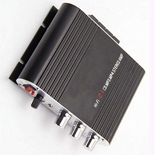 Pinzhi 200W12V Home HiFi Verstärker Booster Radio MP3 / MP4 / iPod Stereo für Auto Subwoofer (Schwarz) Mp3 Mp4 Stereo
