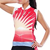 Leisusport Radtrikot Damen Ärmellos Fahrradbekleidung Radsport Jersey Radausrüstung Shirt Mountainbike Bekleidung Outdoor Sportswear Atmungsaktiv Schnell Trocknende (C20, XL)