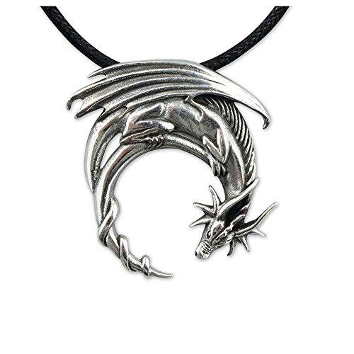 Ciondolo a forma di drago Ciondolo in argento etNox