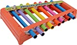 #6: SS TRADERS Multicolor Musical Xylophone With Steel Pipe For Kids Musical Toy With 8 Notes (21 x 15 x 3 cm)