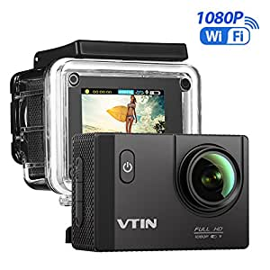 VICTSING Vtin Action Camera, 1080p, HD WiFi sports camera