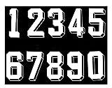 - Bügel-Transfer-für Fußball, Baseball-Trikot-T-Shirt, Weiß, number-(0-9), L(9