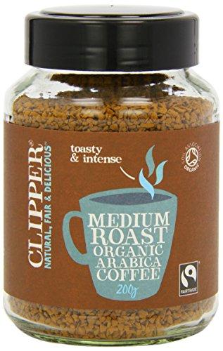 Clipper Fairtrade Organic Medium Roast Instant Coffee 200g (Pack of 2)