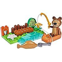 Big - Spielwarenfabrik Big 56704Fábrica 800057135Big de bloxx MB Bear 's Canoe Masha, oso de juguete
