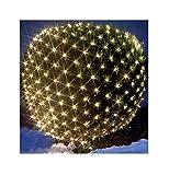 LED Lichternetz Lichterkette Baumbeleuchtung 240 LEDs warmweiß 3x3 m IP44