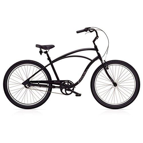 Electra Cruiser Lux 3i Herren Fahrrad Matt Schwarz 26 Zoll Beach Cruiser Retro Rad 3 Gang Schaltung, 539866