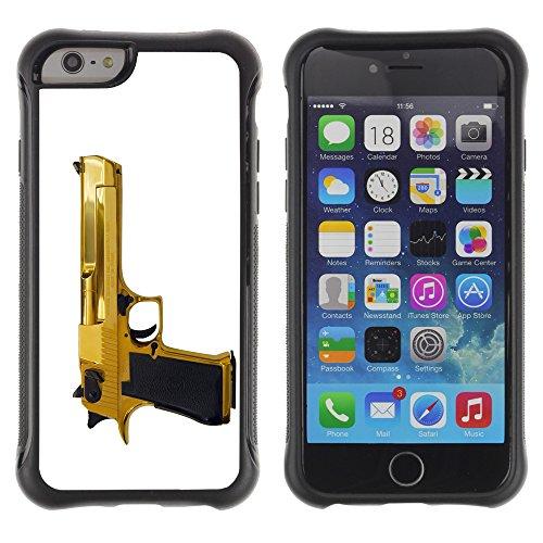 Graphic4You Schwarz Desert Eagle Pistole Feuerwaffe Design Shockproof Anti-Rutsch Weichen Hülle Case Tasche Schutzhülle für Apple iPhone 6 / 6S Design #5