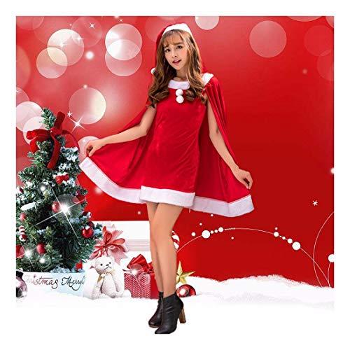 SDLRYF Weihnachtsmann Kostüm Weihnachten Kostüm Erwachsene Männer Und Frauen Santa Claus Kostüm Party Einheitliche Erwachsenes Weibchen Weihnachten Kostüm