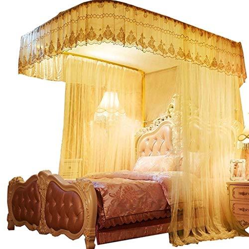 YFF-wz Bett-Moskitonetz-Betthimmel, Schienen-Art Kinder-Etagenbett-Netz-Verschlüsselungs-Konto-Garn-Moskito-Vorhang 1.8m / 2m (Color : B, Size : 1.5m) -