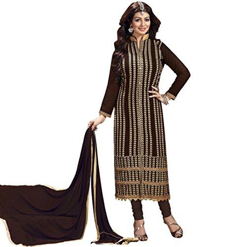 Lady Line Party-wear Embroidered Georgette Salwar Kameez Suit (Unstitched Dress Material)