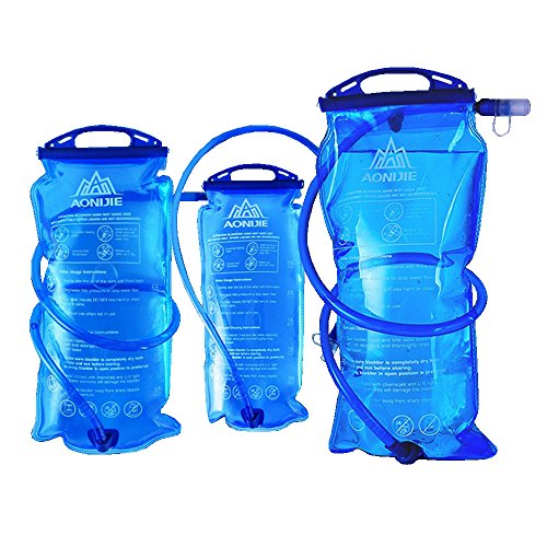 Imagen de bolsa de agua plegable, bolsa de hidratación de 1 l,1,5 l, 2 l o 3 l, para deportes al aire libre como ciclismo, senderismo o maratón, de aonijie sd12