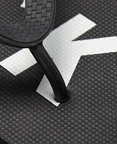 Jack & Jones Mens Neue Logo Pack Kautschuk Marken Flip Flops Limoges Schwarz