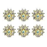 tumundo Set di 6 Pezzi fermacapelli curly forcina capelli con fiore farfalla perla strass nozze acconciatura, colore:Modell 18