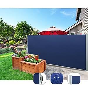 CCLIFE Tenda Laterale avvolgibile con la Protezione antiappannamenta, Anti-UV, Disponibile in Diversi Colori e Diverse Misure, Colore:Blu, Dimensione:180x300cm