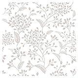 murando - Tapete selbstklebend 10m Wandtattoo dekorative Möbelfolie Dekorfolie Fotofolie Panel Wandaufkleber Wandposter Wandsticker - Blumen Pflanzenmotiv b-C-0246-j-a