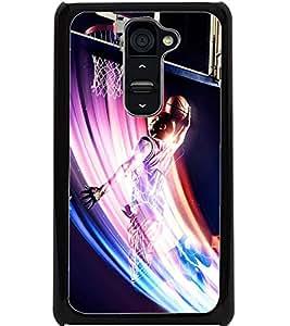 ColourCraft Basket Ball Design Back Case Cover for LG G2