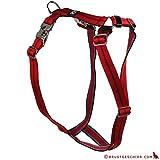 Feltmann Premium Hundegeschirr mit Alu-Max®, Soft- Nylonband, 75-100cm, 25mm, Streifen rot