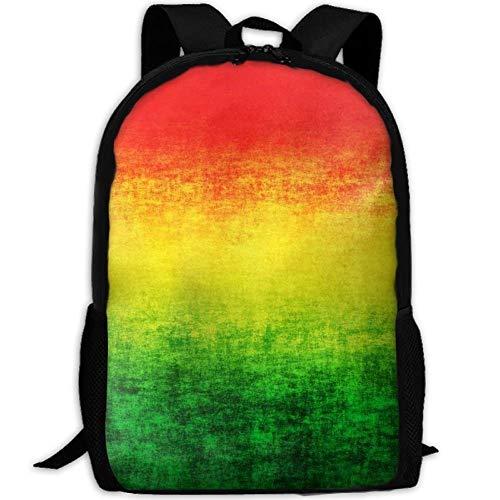 HOJJP Schultasche Rasta Color Fashion School Backpack for Girls Teens Bookbag Cute School Bag Set Water Resistant Travel Daypack (Teen Cute Girl)