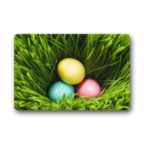 dfegyfr Fußmatten Ostern Bunte Ei Hintergrund Fußmatte/Gate Pad für Outdoor, Indoor, Bad Verwenden! 23,6 Zoll (L) x 15,7 Zoll (W)