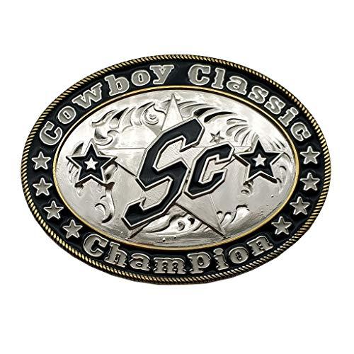 Hebilla de cinturón Cowboy Classic Champion SC Star Belt Buckle