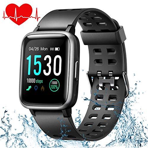 ONSON Fitness Armband Wasserdicht IP68 Fitness Tracker Fitness Uhr für Damen Herren Kinder, Sportuhr mit Schrittzähler,Pulsuhr,1.3-Zoll Smart Watch Sportuhren für iOS Android Handy -
