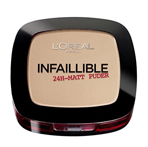 L'Oréal Paris Infaillible Puder, 225 Beige/Kompaktpuder für das perfekte Finish & bis zu 24h...