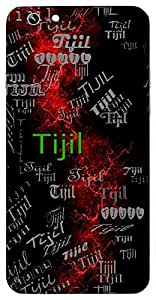 Tijil (Moon) Name & Sign Printed All over customize & Personalized!! Protective back cover for your Smart Phone : Moto G-4