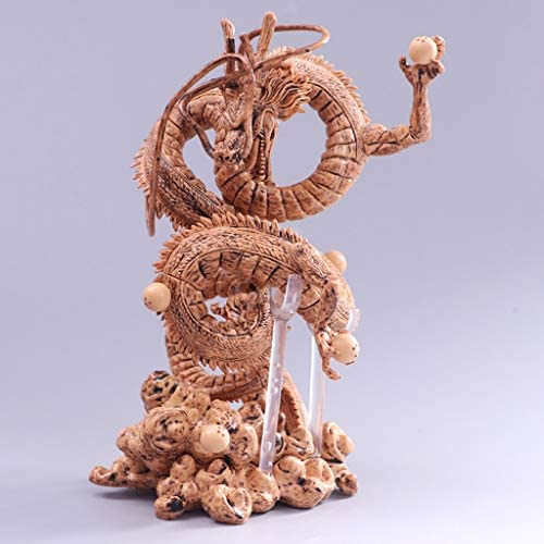 Hyzb Shenlong Jouet Modèle Artiste Dragon Ball Dieu Statue Modèle Dragon Dragon Décoration/Cadeaux/Collection/Artisanat/Noël/Cadeaux De Vacances Vert Couleur Bois (Environ 21CM) | à La Mode