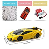 Womdee Remote Control Wall Climbing Car, Racing Car Toy 360° Rotating Remote Control Wall Climbing & Floor LED Head Gravity Defying for Christmas Birthday Gift Yellow