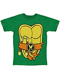 Mighty Fine TMNT Teenage Mutant Ninja Turtles Michelangelo Costume Green T-sh...