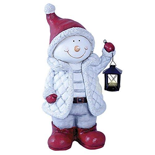 op 84480 55 cm, mit Aufschrift Happy Christmas Schneemann mit Laterne,/Rot Weiß ()