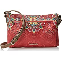 Desigual Bols_polaris_toulouse, Women's Cross-Body Bag, Red (Teja), 1x17x26 cm (B x H T)
