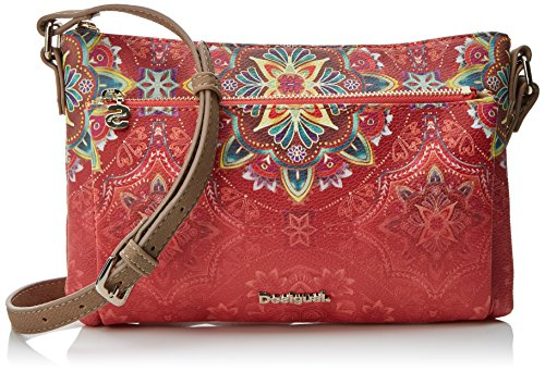 Desigual bols_polaris_toulouse - borse a tracolla donna, rosso (teja), 1x17x26 cm (b x h t)