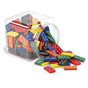 Learning Resources- Juego de dominó Doble Seis con fichas de Madera, Color (LER0287)