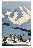 """JUNIQE® Poster 30x45cm Ski & Snowboard Vintage - Design """"High Jinks"""" (Format: Hoch) - Bilder, Kunstdrucke & Prints von unabhängigen Künstlern entworfen von Hemingway Design"""