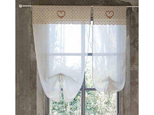 Blanc mariclo tenda porta finestra serie beatrice cm