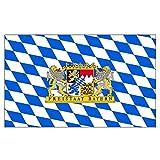 Flaggenking Fahne Flagge Freistaat Bayern Löwe mit Schrift
