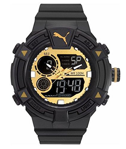 Puma Reloj Analógico-Digital para Hombre de Cuarzo con Correa en Plástico PU911391004
