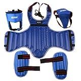 Sharplace Kit de Protectores de Pierna Pecho Cabeza Coquilla Protección Duradera Cómodo Taekwondo Arte Marcial Boxeo - Azul