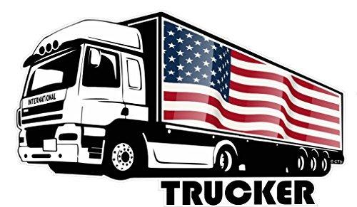 Auto Amerikanische Für Flagge-aufkleber Große (groß International Lastwagen Fahrer Trucker Motiv Mit Amerikanisch Sterne & Streifen US Flagge Vinyl Auto Aufkleber 300x180mm)
