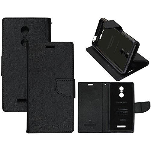 Casotec Goospery Fancy Diary Wallet Flip Case Cover for Xiaomi Redmi Note 3 - Black  available at amazon for Rs.399