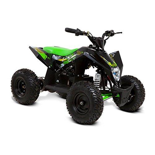funbikes T-Max Roughrider 1000W Elektro Kinder Quad Bike Akku, grün