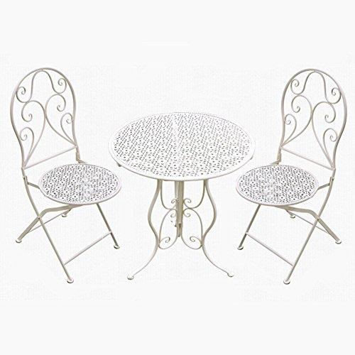 pliante forgé terrasse Chaise et fer C du de Table de Extérieure Xin loisirs jardin chaise la J en Intérieur toit Extérieure sur Balcon Chaise Table nwP80OkX
