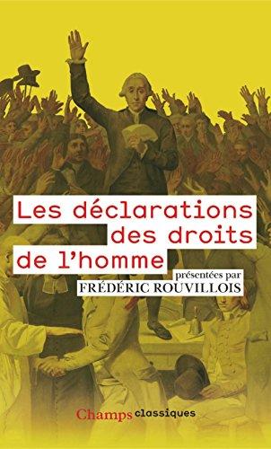 Les déclarations des droits de l'homme par Frédéric Rouvillois